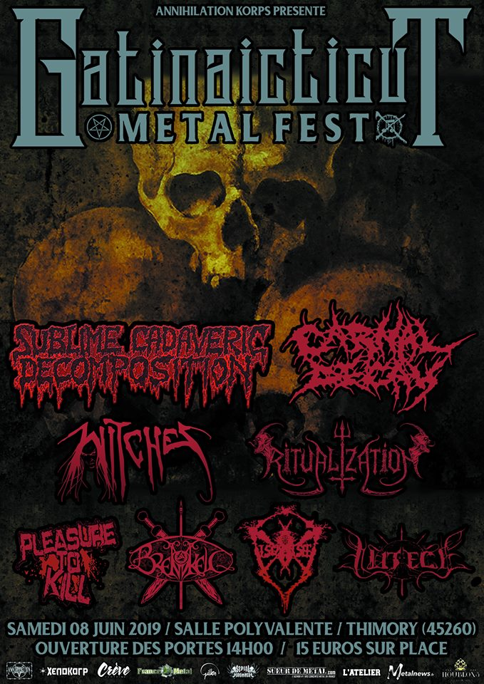 Witches flyer - Sublime Cadaveric Decomposition (Grind / Death Legend) Fr